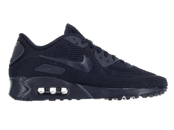 buy online e6b79 646ed Amazon.com   Mens Nike Air Max 90 Ultra Breathe Navy   Fashion Sneakers