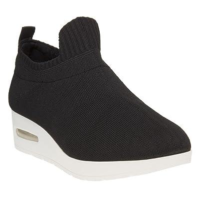 DKNY Angie Slip on Low Damen Sneaker Schwarz 2RNk8Ozl
