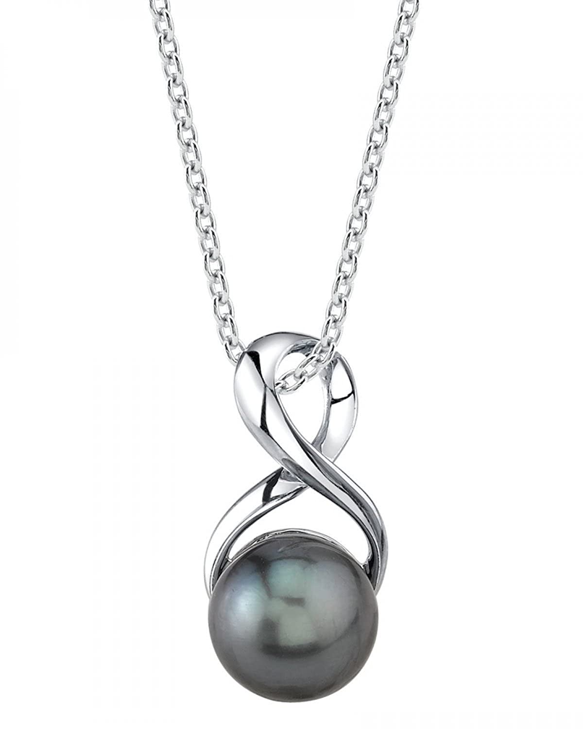 9mm Tahitian Cultured Pearl Infinity Pendant