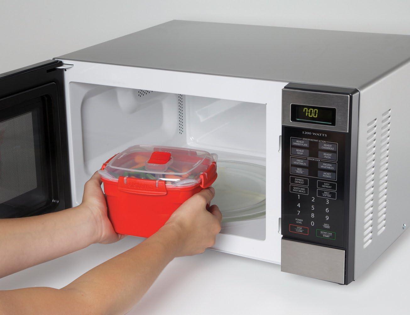 Medio 2,4/L Sistema Contenitore per Cottura A Vapore In Microonde
