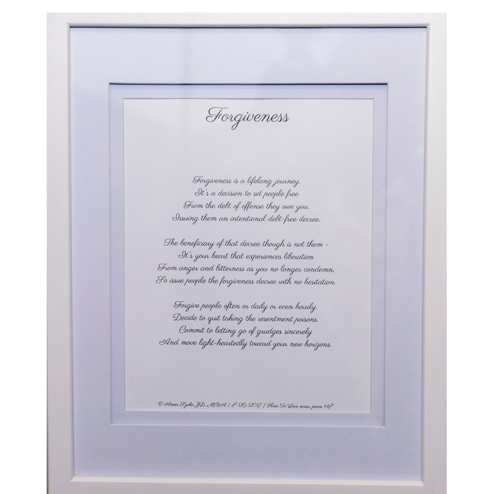 Forgiveness Poems by Anna Szabo #PoemsFromGod  framed poetry for Prayer Hallway