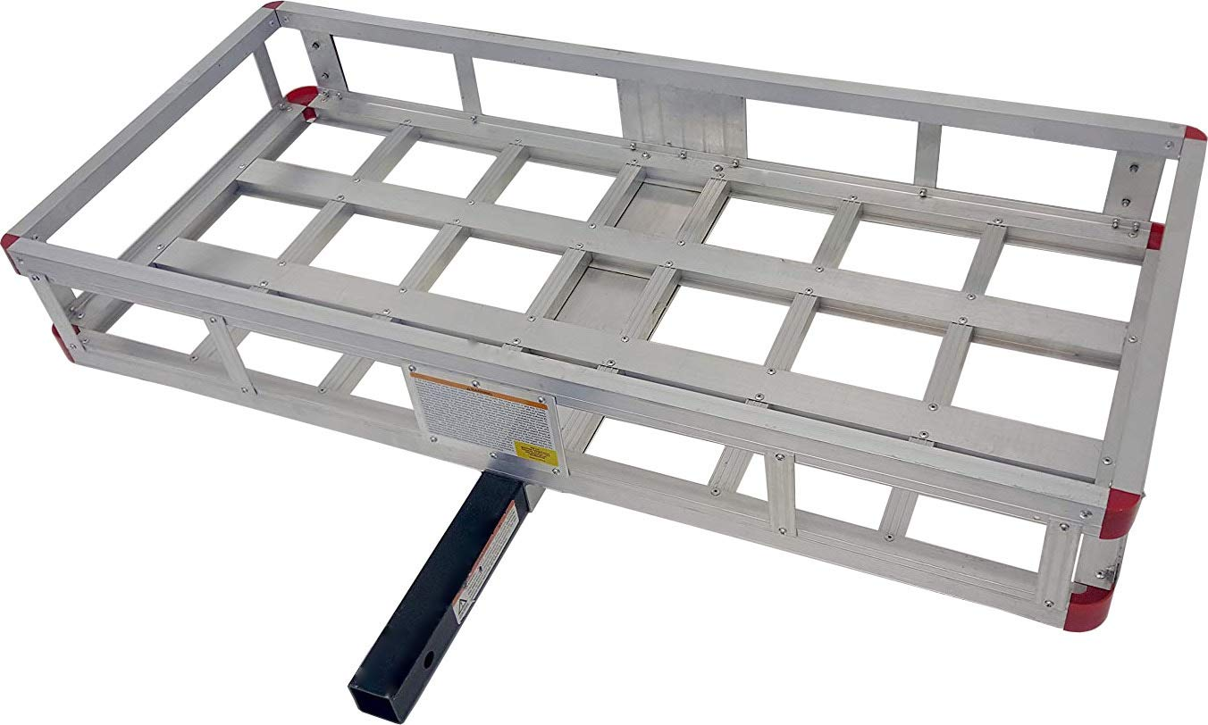 MaxxHaul 70108 49'' x 22.5'' Hitch Mount Aluminum Cargo Carrier With High Side Rails For RV's, Trucks, SUV's, Vans, Cars With 2'' Hitch Receiver - 500-lb Load Capacity by MaxxHaul (Image #4)