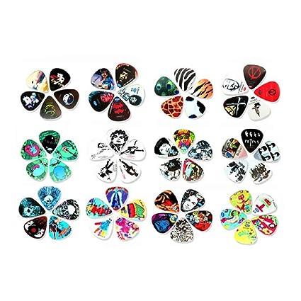 AzuNaisi 5 PCS guitarra escoge las púas de guitarra eléctrica, guitarra acústica, bajo y