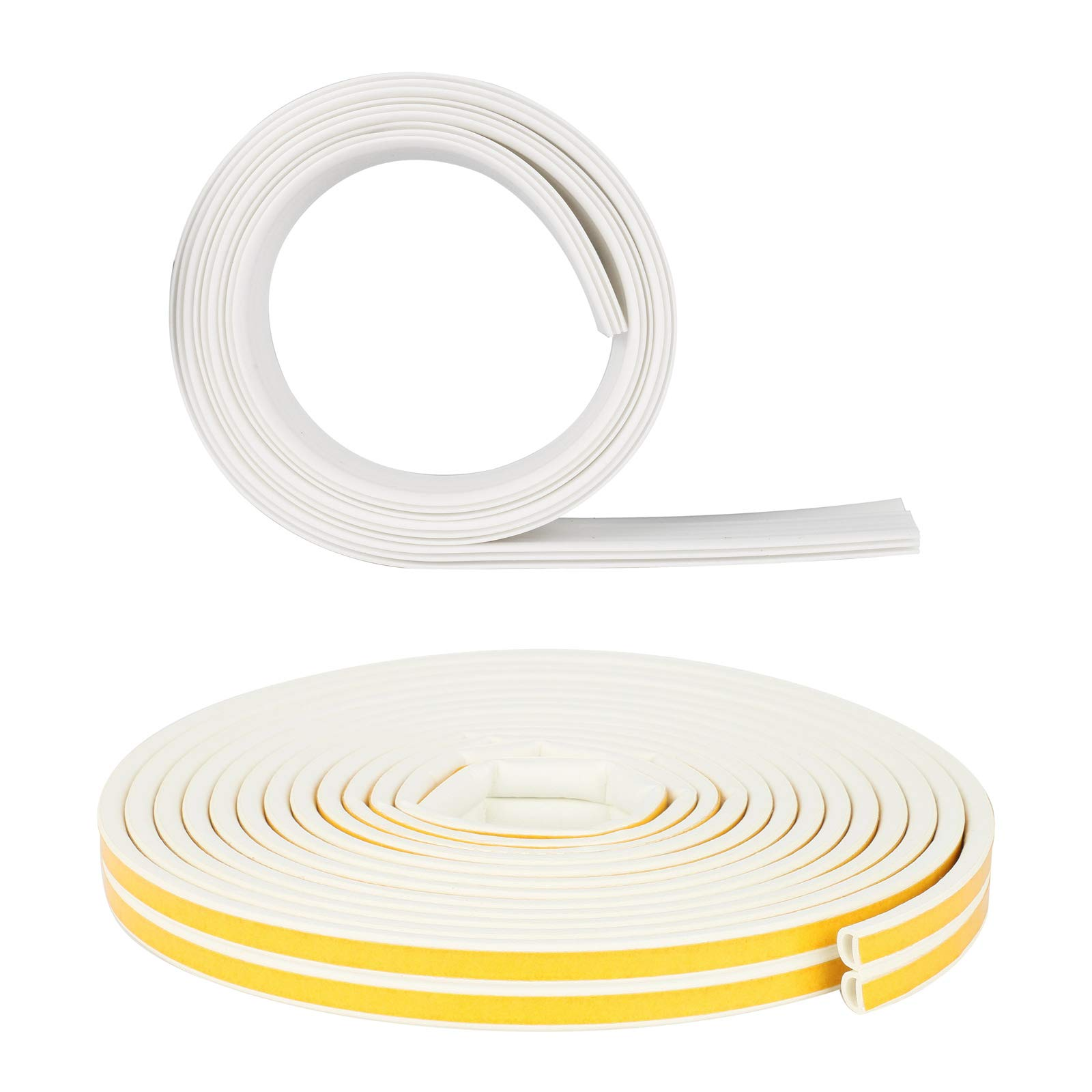 Soundproof Weather Door Window Seal Strip + Door Bottom Sweep Kit, 33Ft Self Adhesive Window Indoor Rubber Weatherstrip & 39'' Under Door Noise Insert Draft Blocker Sealing Sweep for Full Door Sealing