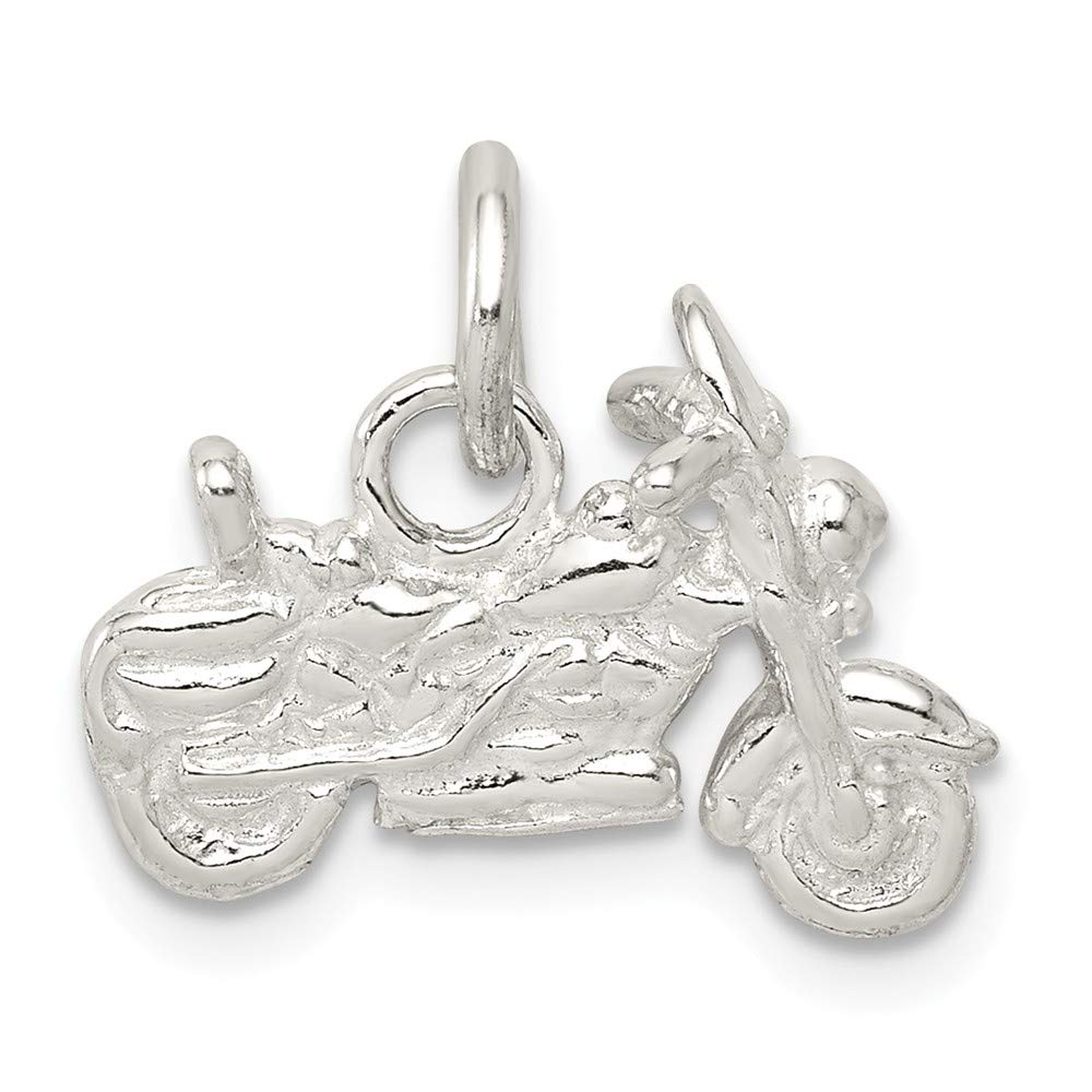 FB Jewels Solid Sterling Silver Motorcycle Charm