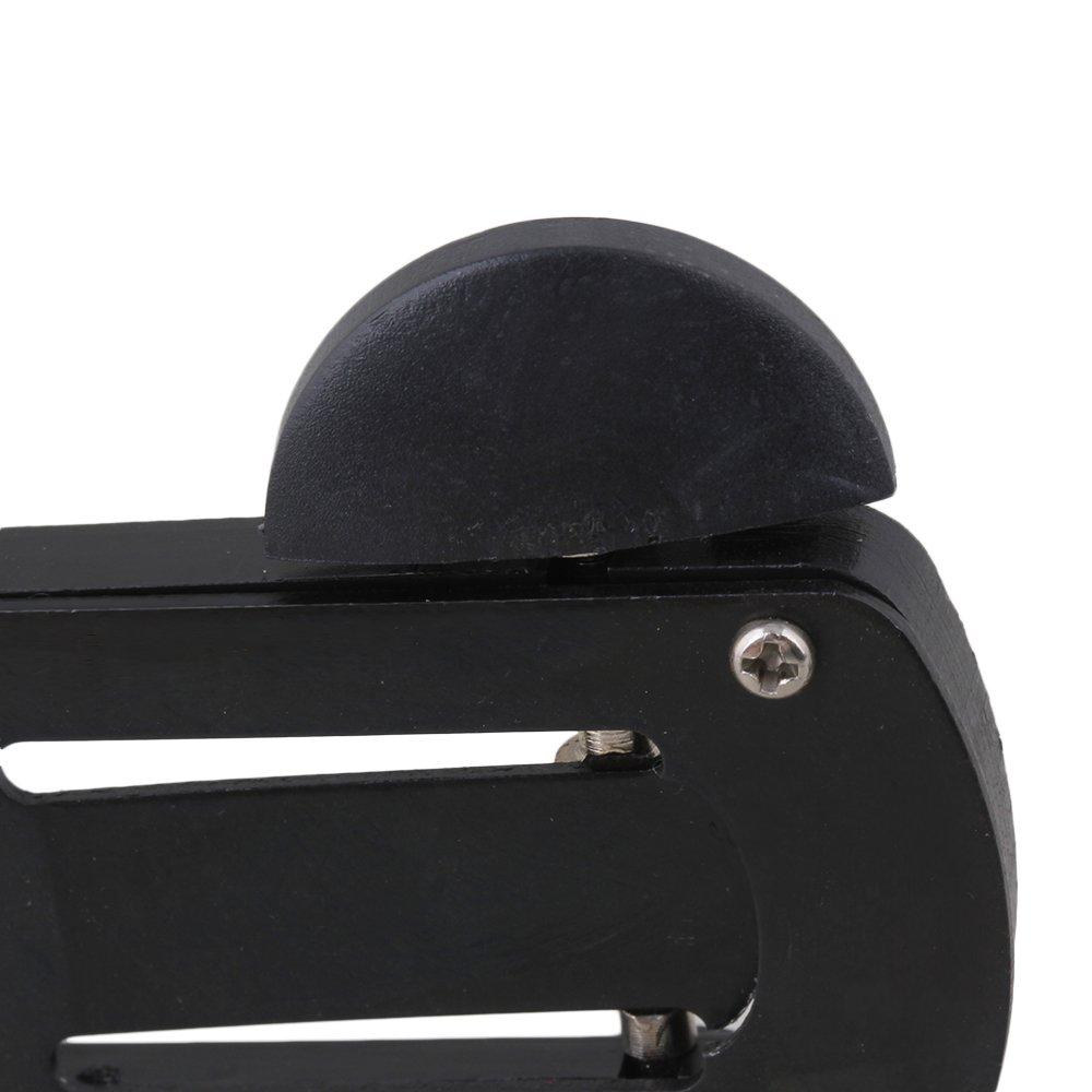Yibuy Coupe-anche pour Clarinette Outils de r/éparation Noir