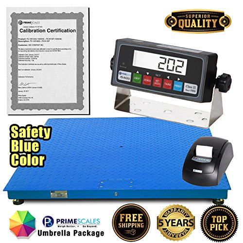 Prime Scales 10000x1lb 48x48 Floor Scale/Pallet Scale with Premium Indicator+Printer+Calibration Certification ()