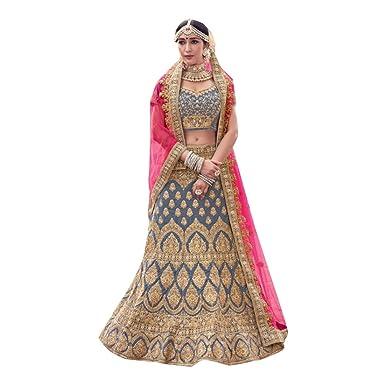8529 Bridal Lehenga Choli Gharara Dupatta Skirt Falda Set Indian ...