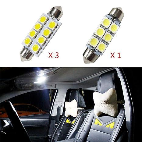 para Compass Grand Cherokee Patriot Super Brillante Fuente de luz LED Interior Lámpara de Coche Bombillas