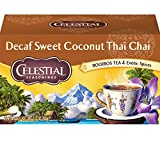 Celestial Seasonings Chai Tea, Decaf Sweet Coconut Thai, 20 Count (Pack of 6)