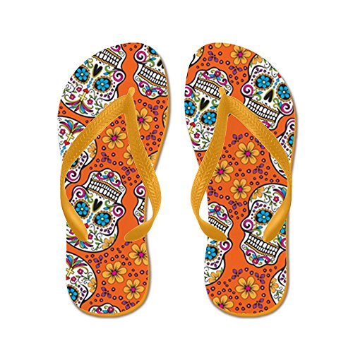 CafePress Day Of The Dead Sugar Skull - Flip Flops ec10e62e2
