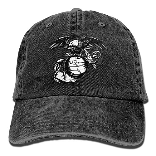- Eagle Globe Anchor USMC Marine Corps Adult Dad Hat Baseball Hat Vintage Washed Distressed Cap