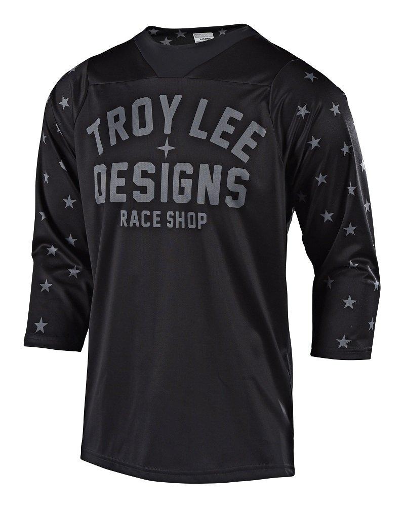 Troy Lee Designs Ruckus Star Men's BMX Jersey - Black/White / X-Large