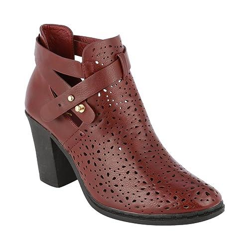 coshare Moda Mujer Piel sintética Tiras Superior Tobillo Alta Chunky talón Botines: Amazon.es: Zapatos y complementos