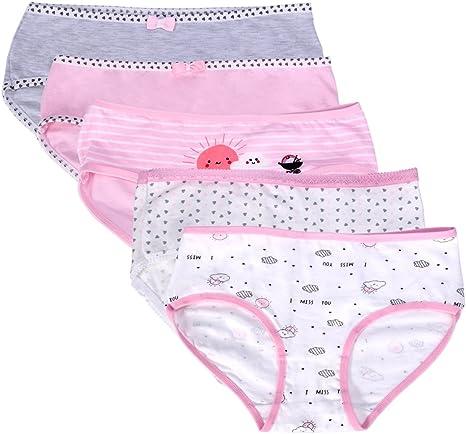 Judy para mujer ropa interior, 5 paquetes de muñecos/algodón BOXER briefs-novelty suave rosa calzoncillos con patrones de amor: Amazon.es: Deportes y aire libre