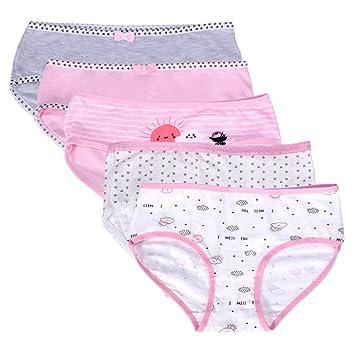 Judy para mujer ropa interior, 5 paquetes de muñecos/algodón BOXER briefs-novelty