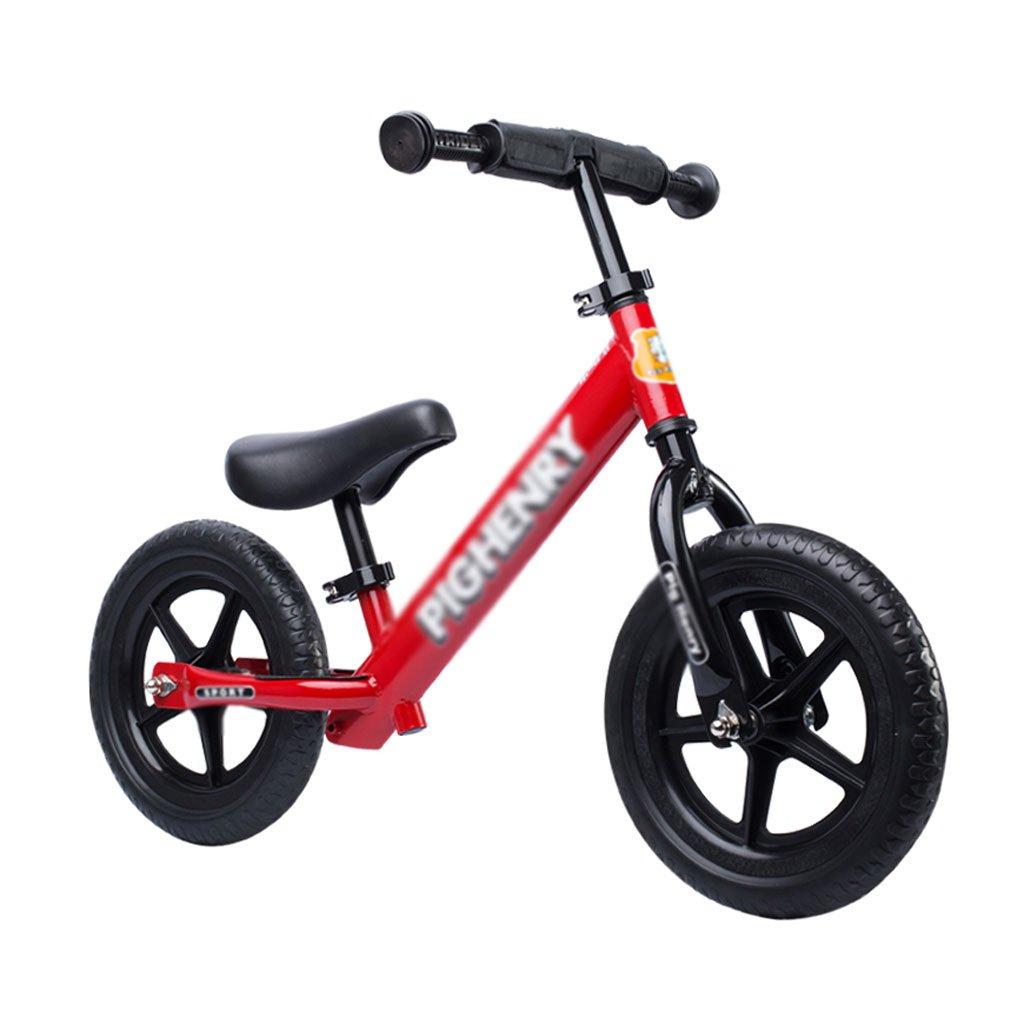 子供のスクーターペダルなしベビースクーターバランス車バギー子供スクーターベビースクーター2ラウンドウォーカー赤いインフレータブル2歳から6歳 B07F33MKYW