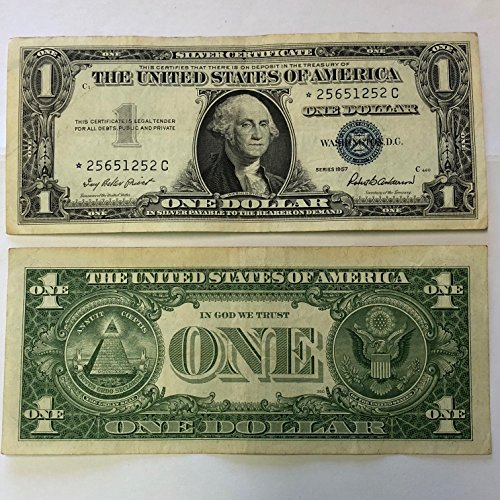 1957 Mixed *STAR* Note - SILVER CERTIFICATE $1 US Mint Circulated
