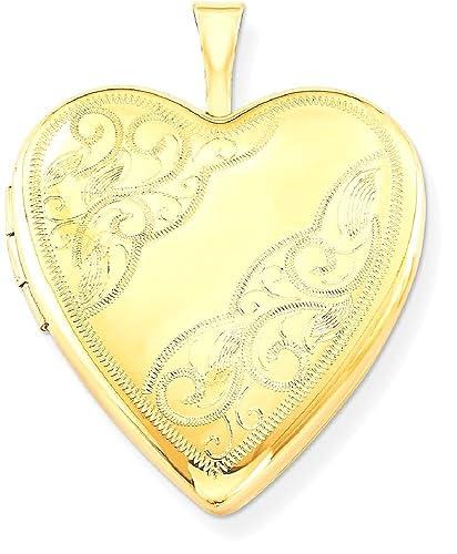 9 Karat Gold Herz Medaillon mit Herz Motive