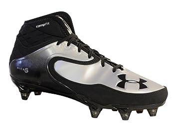 28887d9c164d Under Armour Nitro Icon Mid D Negro Plata fútbol Tacos de Zapatos  Desmontable (9): Amazon.es: Deportes y aire libre