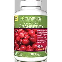trunature One Per Day Cranberry 650 mg, 140 Vegetarian Capsules