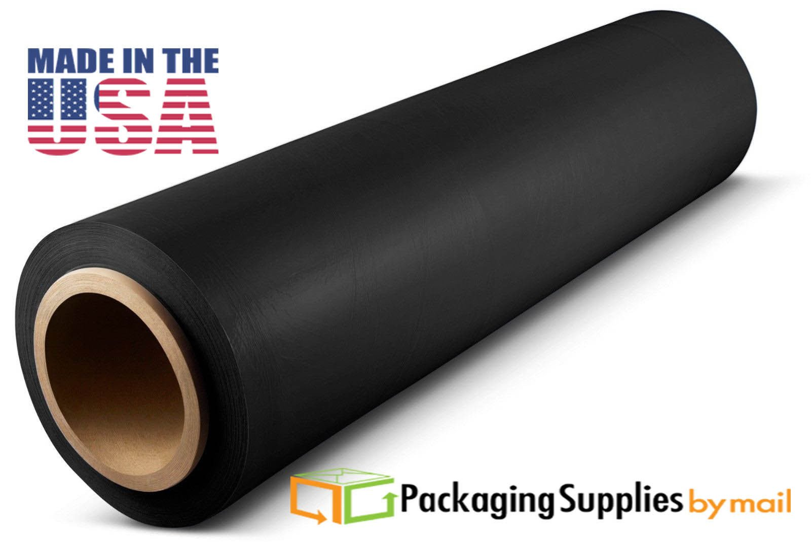 4 Rolls Cast Hand Stretch Plastic Wrap Black Tinted Film 18'' x 1000' x 120 Gauge