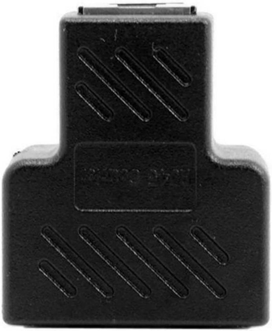 Ruiqas RJ45 Splitter Adapter 1 to 2 Ways Dual Female Port CAT6 LAN Ethernet Cable Black