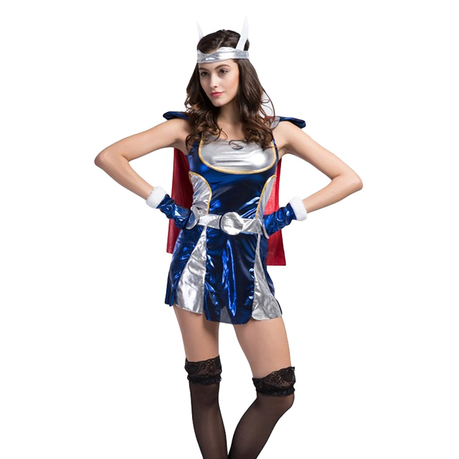 Ladies Sexy Thor Halloween Fancy Dress Costume