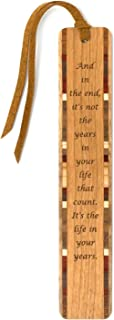 product image for Personalized Living Life Quote Engraved Wooden Bookmark with Suede Tassel - Search B07FNW9NKK for Non Personalized Version