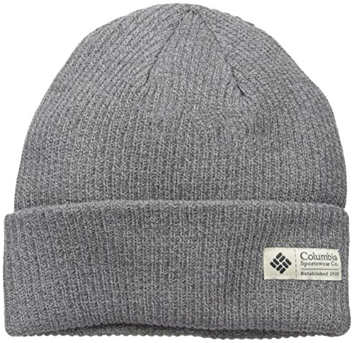 Wool Columbia Hat - Columbia Men's Lost Lager Beanie, Charcoal Heather, One Size