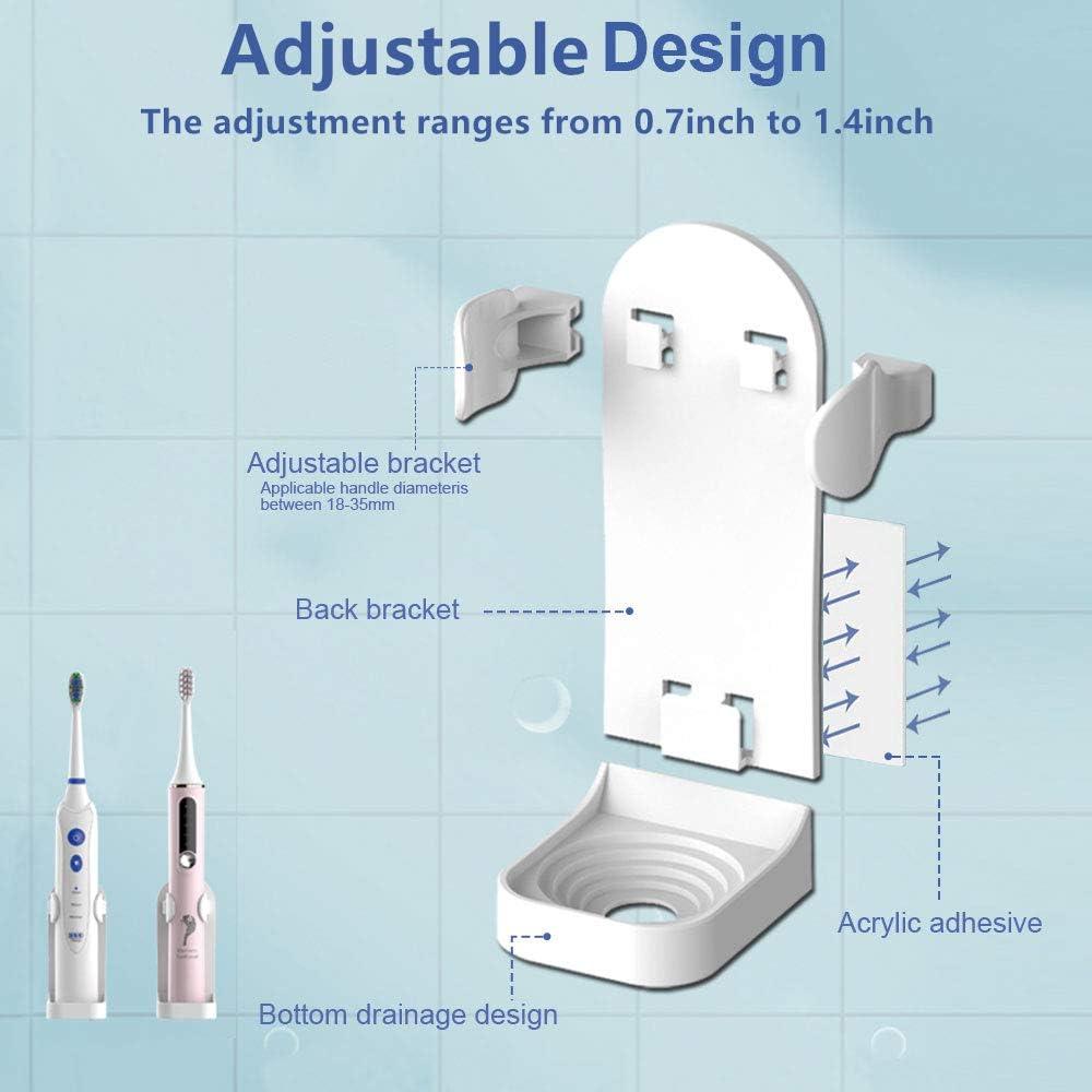 BesLife 2 automatische Zahnpastaspender zur Wandmontage 4 Zahnb/ürstenschlitzen f/ür Dusche und Badezimmer kommt mit 2 elektrischen Zahnb/ürstenhaltern mit staubdichter Abdeckung