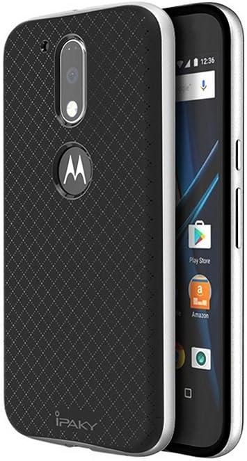 Tumundosmartphone Funda Tipo Neo Hybrid (PC+TPU) Negra/Plata para ...