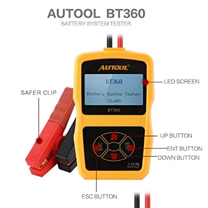 Amazon.com: AUTOOL 12V Car Battery Tester Automotive Battery Test,Cranking Test,Charging Test: Automotive
