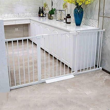 Barrera seguridad Puertas para Mascotas Extra Anchas y Altas para Puertas de escaleras, Montaje de