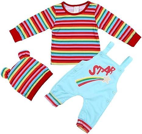 3 piezas Ropa para niñas recién nacidas bebés conjunto, algodón ...