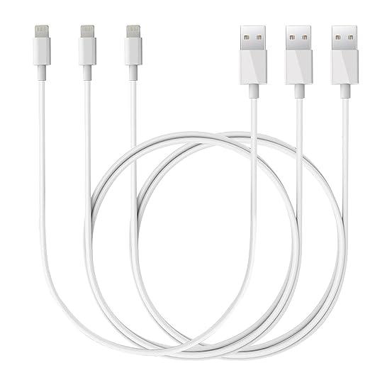 2 opinioni per Lightning Cavo ,Kasos 3 Pack 3ft x 2 + 1ft x 1 Lightning Cavo USB di