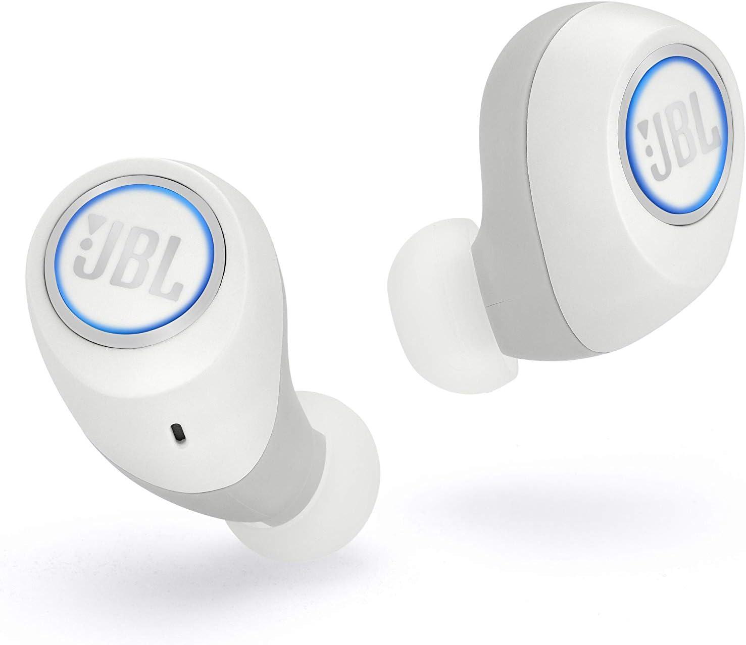 JBL Free X - Auriculares inalámbricos con Bluetooth y cancelación de ruido, JBL Signature Sound, 24 h de música continua y estuche de carga inteligente, blanco