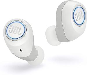 JBL Free X Auriculares inalámbricos con Bluetooth y cancelación de ruido - JBL Signature Sound - 24h de música continua y estuche de carga inteligente - Blanco