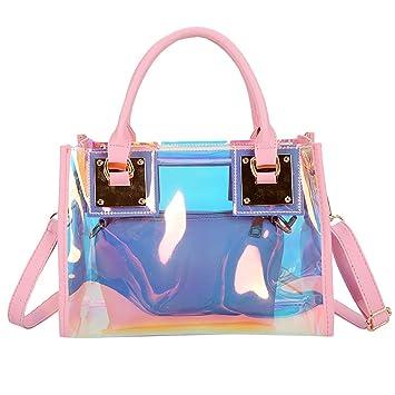 afa75c78ec8f Sameno Clear Bag ✿ Womens 2 in 1 Transparent Sequin Tote Bag PVC Plastic  Waterproof Crossbody Shoulder Bag with Adjustable Strap Stadium Bag + ...