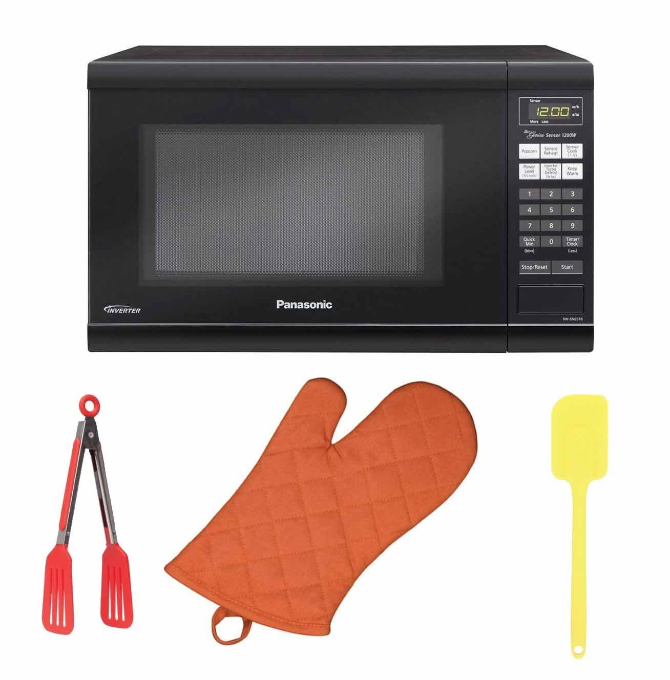 Panasonic NN-SN736B Black 1.6 Cu Countertop Microwave Oven with Inverter Ft