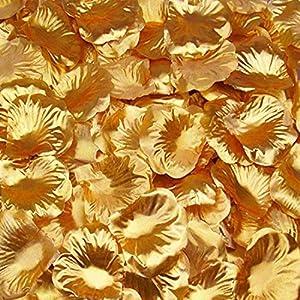 CO RODE 1500pcs Rose Petals Gold for Wedding, Party, Hotel Favors Decoration, Vase Home Decor Bridal 2