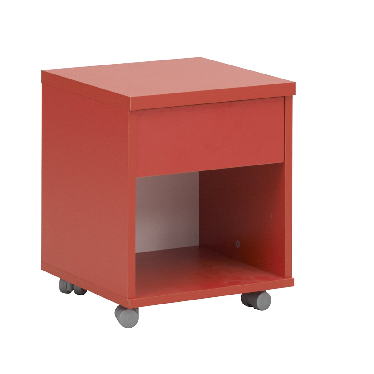 Gami Mobile Einheit, Holz, Weiß/Rot, 36 x 36 x 44 cm