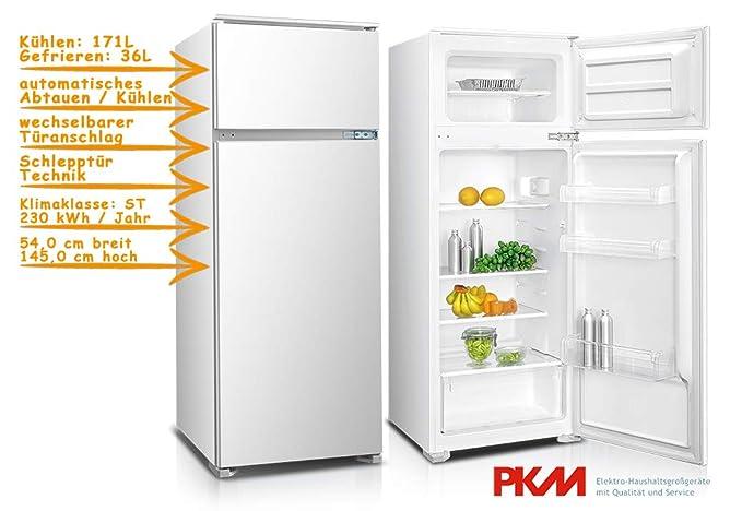 PKM gk225.4 a + EBN nevera y congelador/montaje/altura 146 cm ...