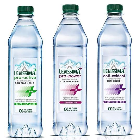 Levissima: Tris Natural Mineral Water Levissima + Zinc, Magnesium,Potassium 60cl/20.29fl.oz Each: Amazon.com: Grocery & Gourmet Food