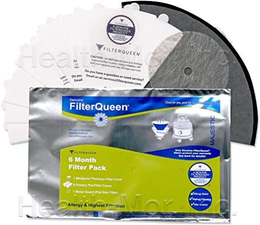 12 Filter Cones Bags for Filter Queen Majestic Vacuums