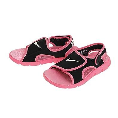 8fe21b146 Nike Little Boys  Sunray Adjust 4 Synthetic Sandals Black Digital Pink Pure  Platinum