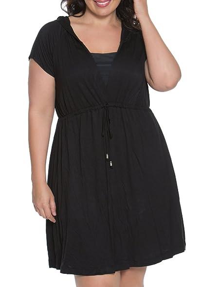 Dotti Dresses Plus Size Beachside Beauty Hoodie Dress Black 1x At