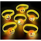 amazoncom 12 smiley face slap bracelets toys amp games
