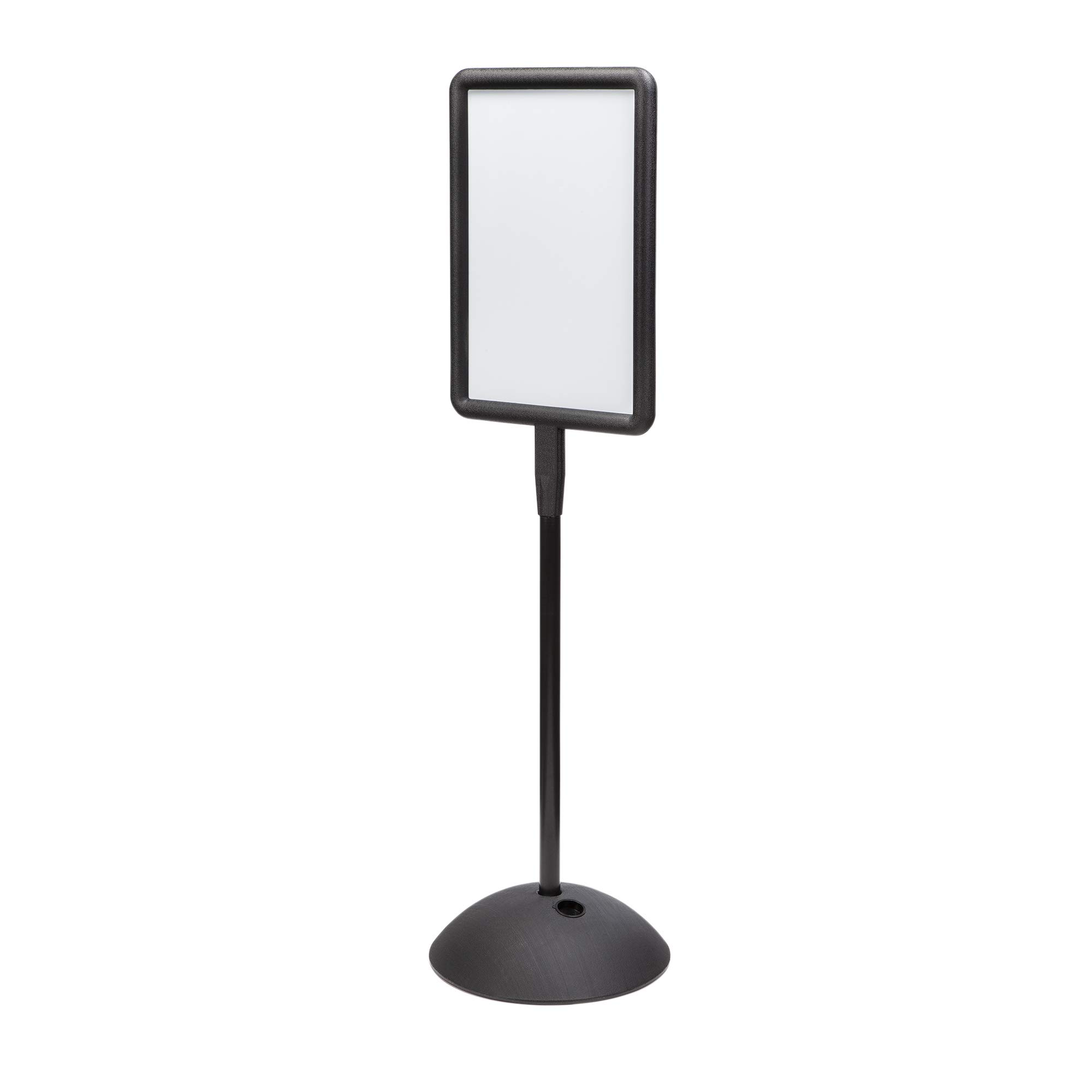 Safco Products Write Way Rectangle Message Sign 4117BL, Black, Magnetic Dual-Sided Dry Erase Board, Indoor and Outdoor Use by Safco Products