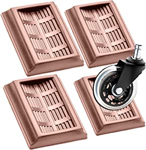 Bed Stopper & Furniture Stopper Cups,YUESUO Stopper Cups for All Wheels of Furniture, Premium Silicone Rubber Caster Cups,Can Prevent The Floor from Scratching & Wheeled Furniture Slides. 4PACK(Brown)